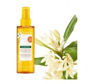 Aceite Seco Solar Alta Protección SPF30 al Monoi y Tamanu Bio, 200 ml. - Polysianes