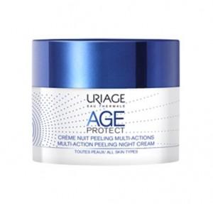Age Protect Crema de Noche Peeling Multiacción, 50 ml. - Uriage