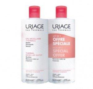 Agua Micelar Termal Pieles con Rojeces, 500 ml. + 500 ml. - Uriage