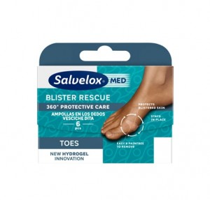 Blister Rescue Toes Ampollas Dedos, 6 ud. - Salvelox Med