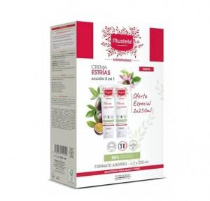 Crema Estrías Formato Ahorro, 2 x 250 ml. - Mustela