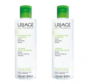 Duplo Agua Micelar Termal Pieles MIxtas-Grasas, 500 ml. + 500 ml. 50% de Descuento en 2ª unidad - Uriage