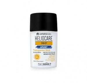 Heliocare 360 Sport Transparent Stick SPF 50+, 25 gr. - Cantabria Labs