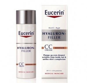 Hyaluron-Filler CC Cream Tono Medio, 50 ml. - Eucerin
