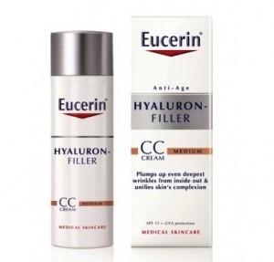 Hyaluron-Filler CC Cream Tono Medio, 50 ml. - Eucerin