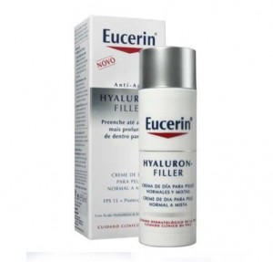 Hyaluron-Filler Crema de Día Piel Normal y Mixta, 50 ml. - Eucerin