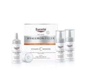Hyaluron-Filler Vitamin C Booster, 3 x 8 ml. - Eucerin