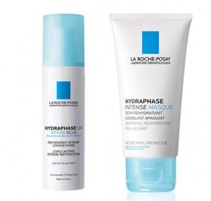 Hydraphase Intense UV Rica, 50 ml. + Hydraphese Intense Masque, 50 ml. - La Roche Posay