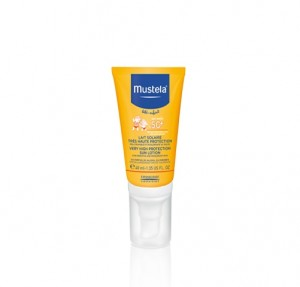 Leche Solar Muy Alta Protección Cara, SPF50+, 40 ml. - Mustela