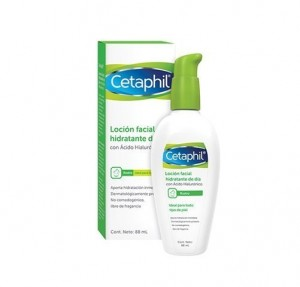 Loción Facial Hidratante de Día con Ácido Hialurónico, 88 ml. - Cetaphil