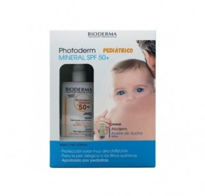 Pack Photoderm Pediatrico Mineral SPF 50+, 100 ml. + Atoderm Aceite de Ducha, 100 ml. - Bioderma