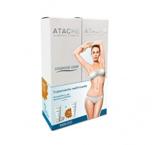 Pack Tratamiento Reafirmante, Sérum Anticelulítico, 200 ml y Gel de Ducha Exofliante, 200 ml. - Atache