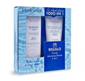 Pack Hydrance UV - Rica Crema Hidratante SPF 30, 40 ml. + Regalo Fluido Desmaquillante 3 en 1, 100 ml. - Avene