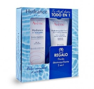 Pack Hydrance UV - Ligera Emulsión Hidratante SPF 30, 40 ml. + Regalo Fluido Desmaqillante 3 en 1, 100 ml. - Avene