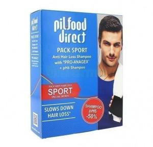 Pilfood Direct Champú Anticaída, 200 ml. + Pilfood Direct Champú pH6, 200 ml. - Laboratorio Serra Pamies