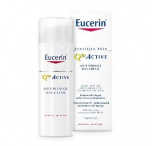 Q10 ACTIVE Crema de Día para piel normal o mixta FPS15 + UVA, 50 ml. - Eucerin