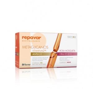 Repavar® Reevitalizante C5,5% Metaglicanos Anti Age + Cell Renew, 15 + 15 Ampollas 1 ml. - Ferrer