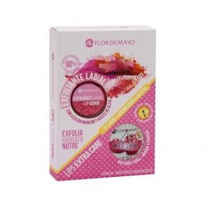 Set Exfoliante Labial 20 g + Bálsamo Labial Cherry 15 g. - Flor de Mayo