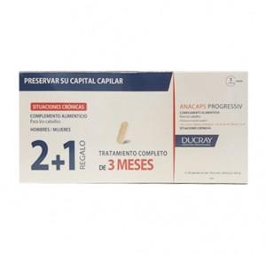 Trio Anacaps Progressiv ,2 cajas de 30 capsulas + 1 caja de 30 capsulas de Regalo! - Ducray