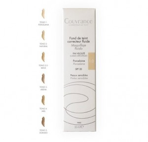 Couvrance Maquillaje Fluido Tono 01 Porcelana, 30 ml. - Avene