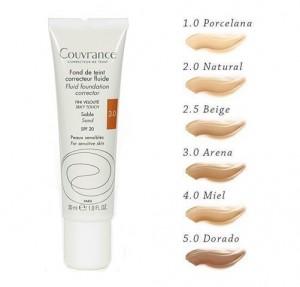 Couvrance Maquillaje Fluido Tono (03) Arena, 30 ml. - Avene