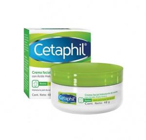 Crema Facial Hidratante de Noche con Ácido Hialurónico, 48 ml. - Cetaphil