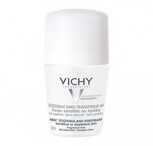 Desodorante Anti-Transpirante 48h. Roll-on Piel Sensible, 50 ml.- Vichy