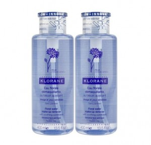 Duplo Agua Micelar Floral Desmaquillante al Aciano Calmante, 400 ml. + 400 ml. - Klorane