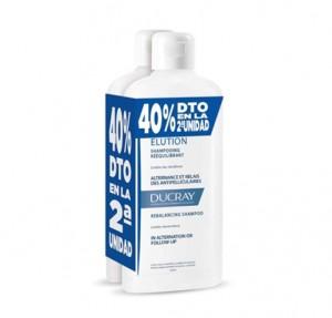 Duplo Elución Champú Reequilibtante, 400 ml. + 400 ml. - Ducray