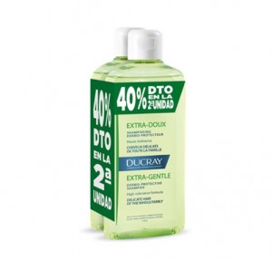 Duplo Equilibrante Champú Dermo-protector, 400 ml. + 400 ml. - Ducray