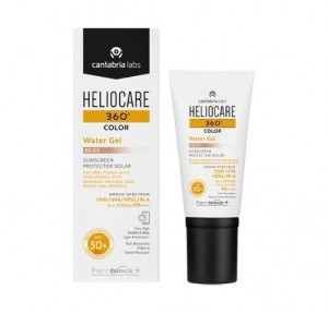 Heliocare 360 Water Gel SPF 50+, Color Beige, 50 ml. - Cantabria Labs