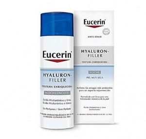 Hyaluron-Filler Textura Enriquecida Crema de Noche, 50 ml. - Eucerin
