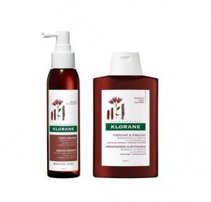 Pack Force Kératine Concentrado Anticaida, 125 ml. + Champú Estimulante y Fortificante a la Quinina Con Vitaminas B, 200 ml. - Klorane