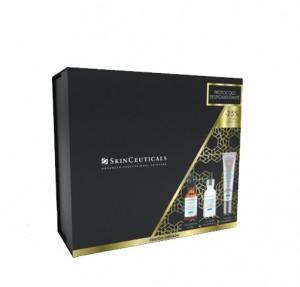 Pack Protocolo Despigmentante Phloretin CF Serum Antioxidante, 30 ml + Discoloration Defense Serum, 30 ml + Advanced Brightening UV Defense Sunscreen SPF 50, 40 ml. - Skinceuticals