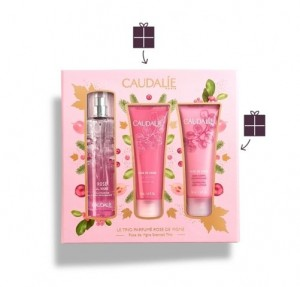 Pack Rose de Vigne Agua Refrescante, 50 ml. + Rose de Vigne Gel de Ducha,50 ml. + Rose de Vigne Crema Corporal, 50 ml. - Caudalie