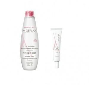 Pack Sensifluid Agua Micelar, 500 ml. + Rheacalm Contorno de Ojos , 15 ml. - A-Derma
