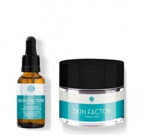 Pack Skin Factor Crema Facial Regeneradora Antipolución, 50 ml. + Skin Factor Sérum Facial Regenerador Antipolución, 30 ml. - Segle Clinical