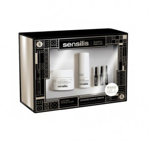Pack Upgrade Crema de Noche 50 ml. + Upgrade Contorno de Ojos 15 ml. + Upgrade Ampollas, 3x1,5 ml. - Sensilis