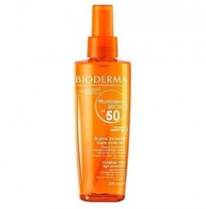 Photoderm Bronz Bruma Solar Invisible SPF50 UVA27, 200 ml. - Bioderma
