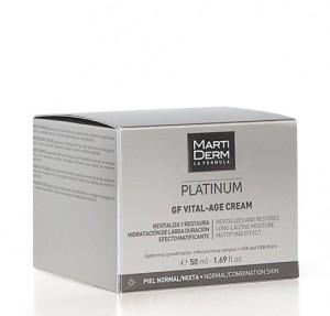 Platinum GF Vital-Age Crema Pieles Normales Y Mixtas, 50 ml. - Martiderm