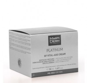 Platinum Vital-Age Crema Pieles Secas Y Muy Secas, 50 ml. - Martiderm