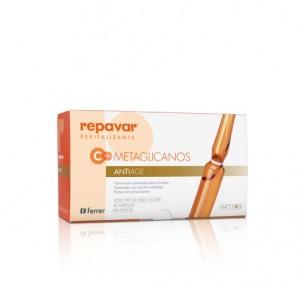 Repavar® Ampollas Reevitalizantes Vit C 5,5% + Metaglicanos Antiage, 30 x 1 ml. - Ferrer