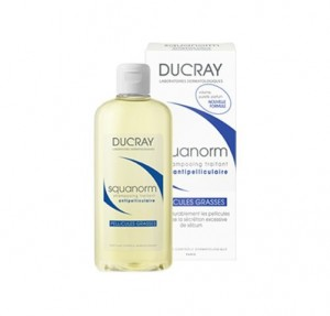 Squanorm Champú Tratante Anticaspa - Caspa grasa, 200 ml.- Ducray