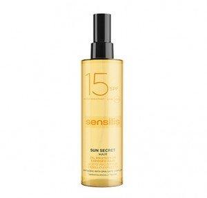 Sun Secret Aceite Protector Cabello Expuesto Spf 15, 100 ml . - Sensilis