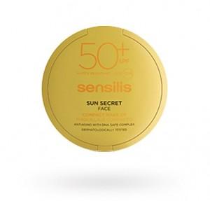 Sun Secret Maquillaje Compracto TONO 02 GOLDEN Protector Solar y Antiedad SPF50+, 10 g. - Sensilis