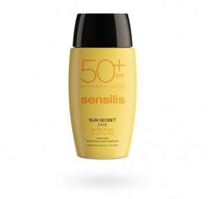 Sun Secret Ultra Fluido Facial Protector y Antiedad SPF50+, 40 ml. - Sensilis