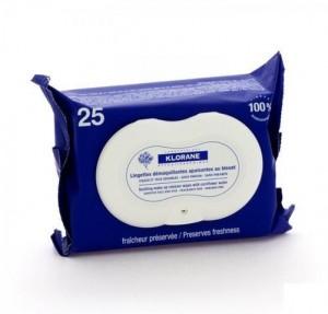 Toallitas Desmaquillantes Calmantes Biodegradables, 25 Unidades. - Klorane