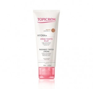 Topicrem UH Crema Hidratante Iluminadora con Color Medium SPF40, 40 ml. - Mayoly