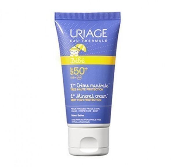 1ére Créme Minérale SPF50+, 50 ml. - Uriage
