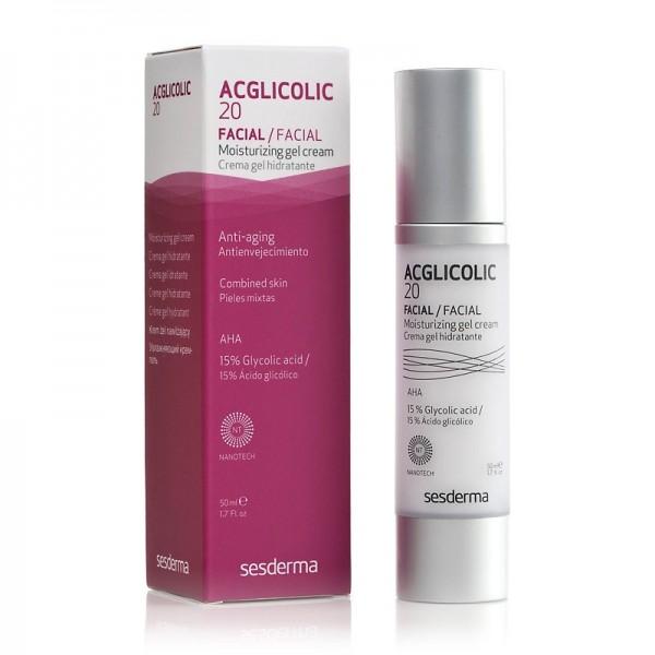 Acglicolic 20 Crema Gel Hidratante, 50 ml. - Sesderma